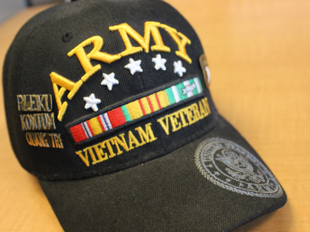 The beloved Army hat of Veteran, Scott Bartl.