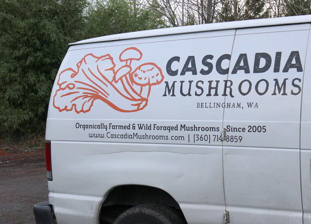 The Cascadia Mushrooms van