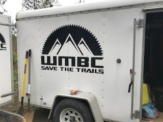 "The WMBC truck sports a decal saying ""Save the Trails"""