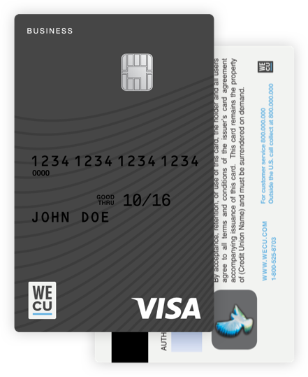 The WECU business visa credit card.