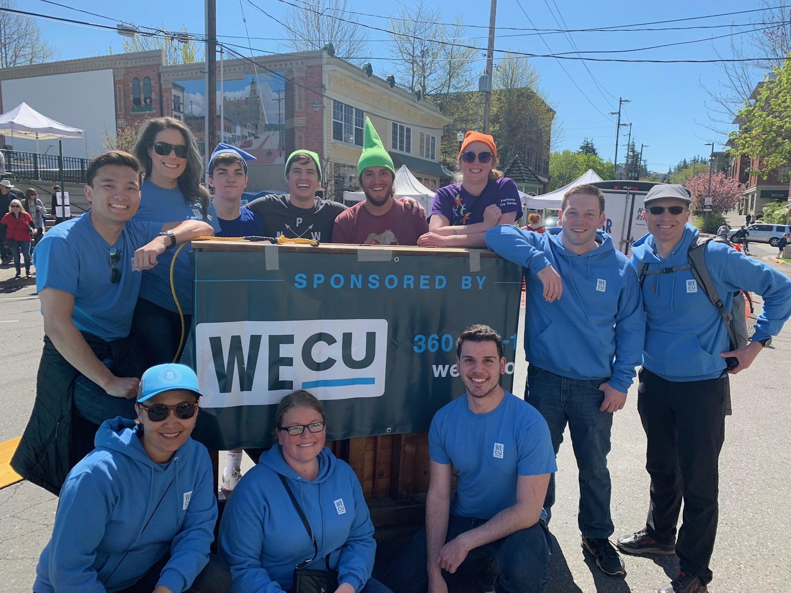 Team WECU Volunteers at the 2019 Dirty Dan Harris Festival.