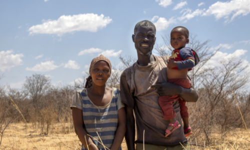 A family from Kenya who are credit union members.