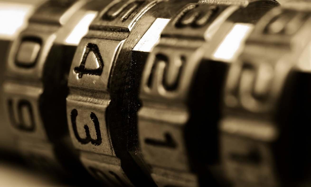 A close-up of a padlock.